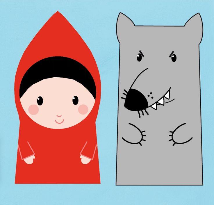 red and wolf Mss een leuke prent om een handpop van te maken?