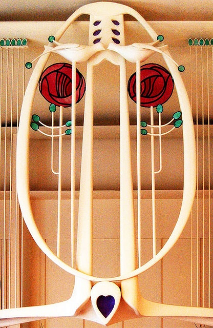 Detail from Charles Rennie Mackintosh's Music Room - House For An Art Lover, Belahouston, Glasgow