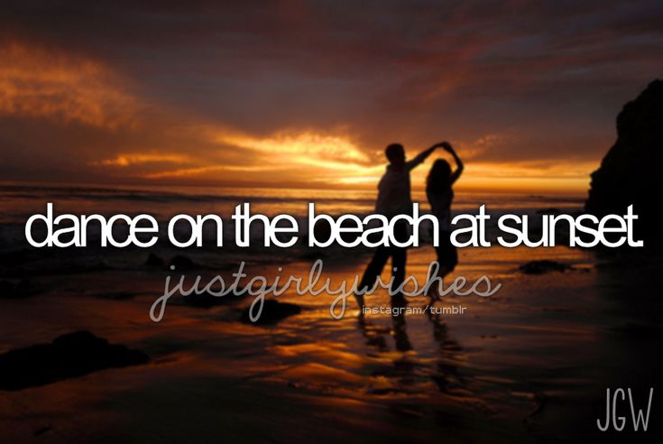 dance on the beach at sunset