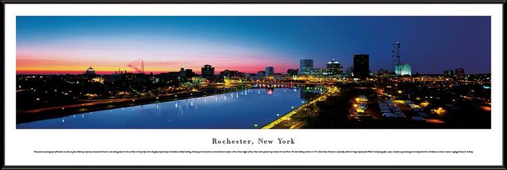 Rochester Skyline Panoramic Picture Framed, New York