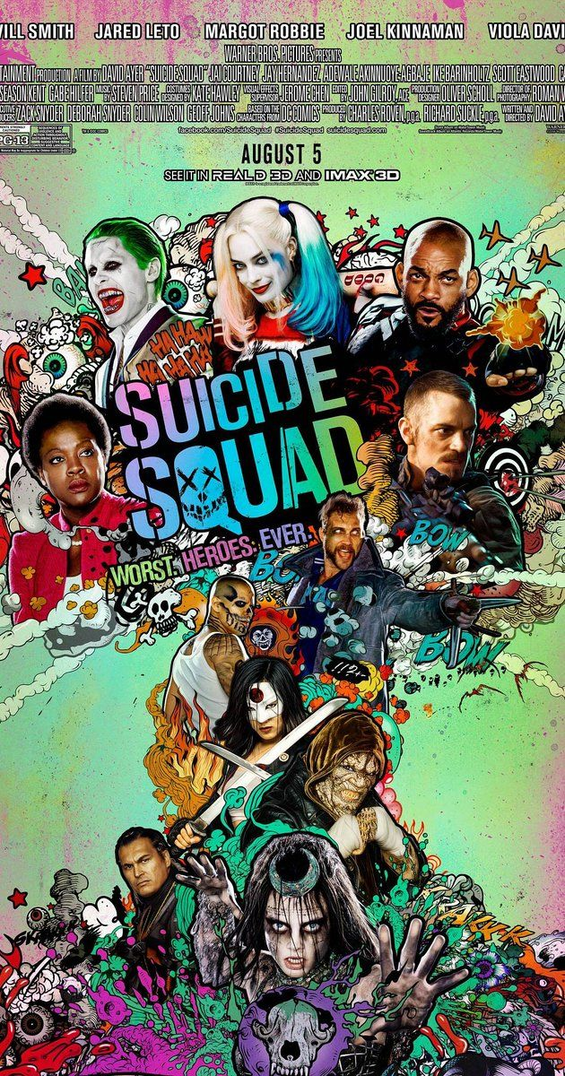 Directed by David Ayer.  With Margot Robbie, Cara Delevingne, Will Smith, Ben Affleck. A secret government agency recruits imprisoned supervillains to execute dangerous black ops missions in exchange for clemency.