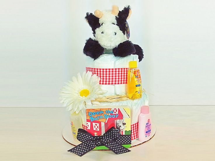 Diaper Cake. Baby Shower Diaper Cake. Stuffed Animal. Baby Boy. Baby Girl. Farm Baby Shower Diaper Cake educational baby gift, baby book by DiaperCakesbyRuby on Etsy https://www.etsy.com/listing/207315480/diaper-cake-baby-shower-diaper-cake