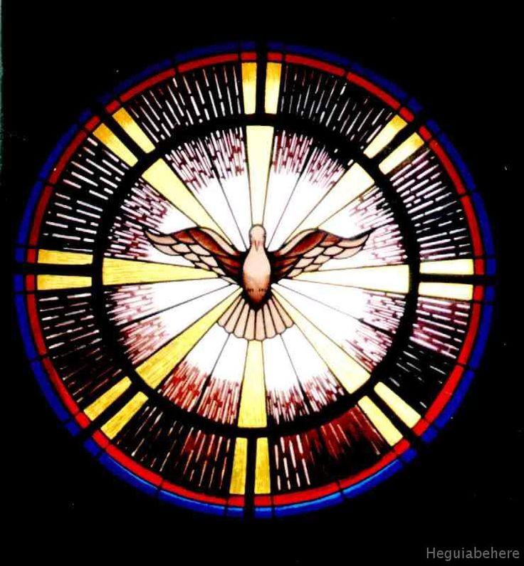 San Jose sp santo vitrales Espiritu Santo en Vitral entrando al Templo-    Vitrales nuevos realizados en 1995 - Parroquia  San Jose Obrero -  Mercedes Pcia. de Buenos Aires.-