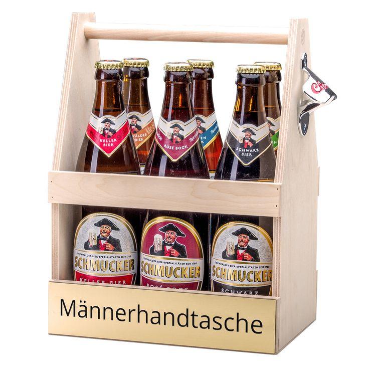 Flaschenträger Männerhandtasche inklusive Bier-Sixpack versandkostenfrei online bestellen bei Lidl-Blumen