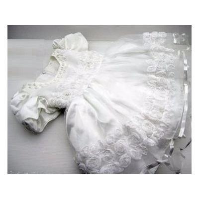 Vestido Bebê Batizado Daminha Princesa Luxo - R$ 119,90