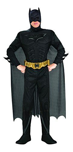 Batman Dark Knight Deluxe Mens Muscle Chest Cape Costume (L) @ niftywarehouse.com #NiftyWarehouse #Batman #DC #Comics #ComicBooks
