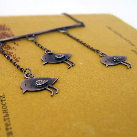 Sterling Silver Birds Necklace