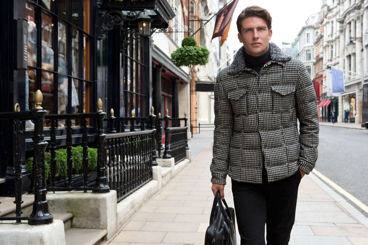 Fay City Diaries features the Men's Fall - Winter 2013/14 collection with the charming backdrop of London. Quilted Shirt. http://www.fay.com/it/city-diaries/londra