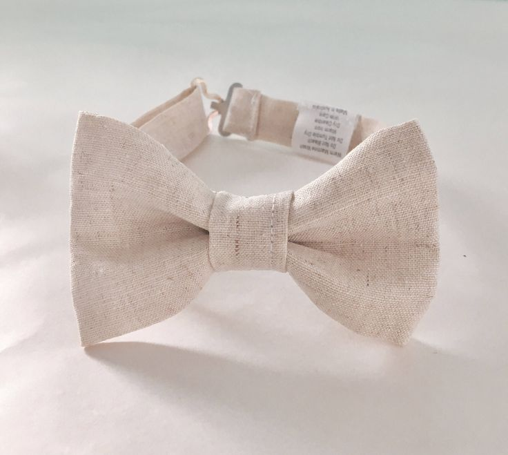 A personal favourite from my Etsy shop https://www.etsy.com/au/listing/534926893/natural-linen-childrens-bow-tie