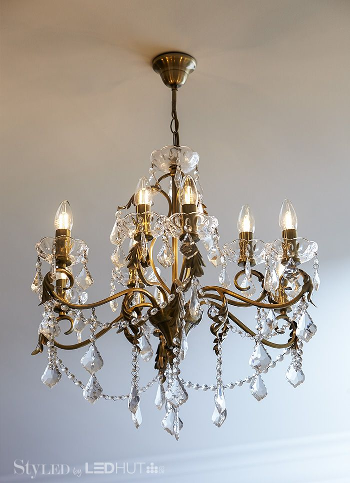 Pairing LED candles with chandeliers and candelabra-style wall lights gives you ornate glamour with a twist #StyLEDlighting