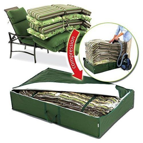 Outdoor Patio Furniture Cushion Space Saver Storage Bag Save