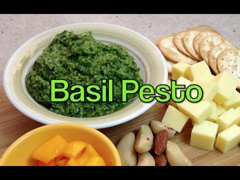 Sweet Basil Pesto, Made in seconds, you wont believe how easy and delicious hoime made is until you try it yourself. Cheekyricho youtube shows you how.