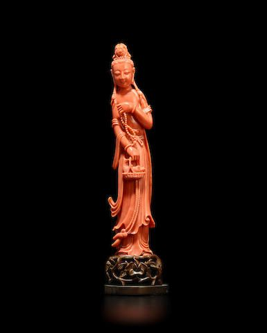 A Coral Figure of Guanyin
