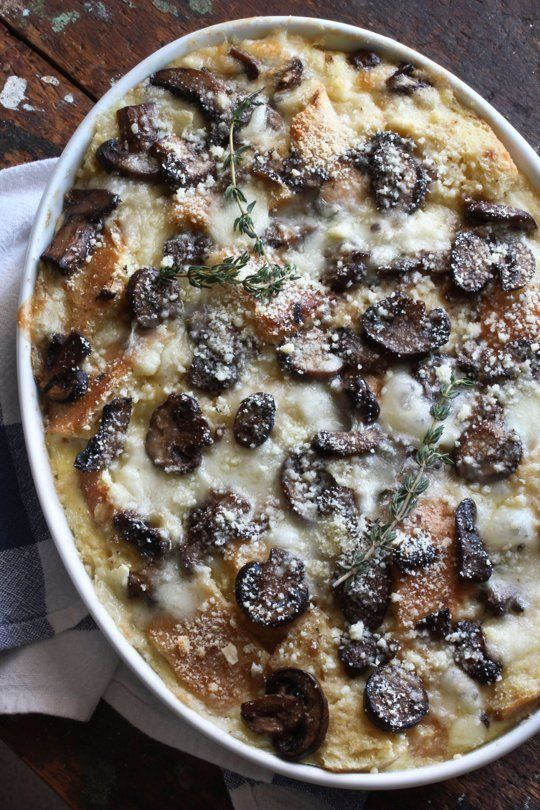 Recipe: Brie & Mushroom Breakfast Strata — Recipes from The Kitchn | The Kitchn
