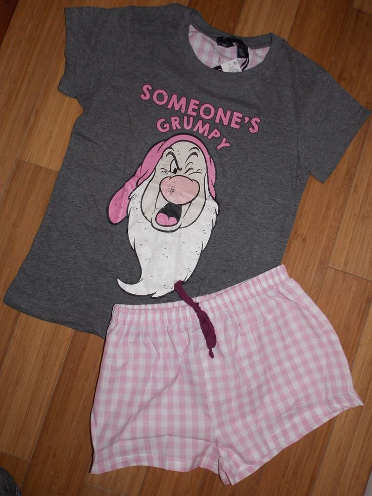 Primark Ladies DISNEY GRUMPY Pyjamas T Shirt & Shorts | eBay