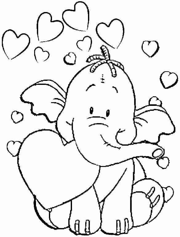 Coloring Sheet For Toddlers Best Of 54 Toddler Coloring Sheets Free  Printables Ide… Valentines Day Coloring Page, Elephant Coloring Page,  Valentine Coloring Pages