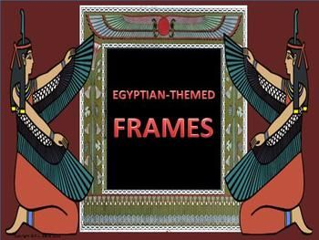 $4 not grade specific   Whether you're looking for a frame set for your package on Egypt, the Nile, Ancient History, Biblical Studies, the story of Moses, or even if you just want a colourful frame for worksheets or an eye-catching frame for your cover pages, this non-transparent frame set may be JUST what you need!   This 23-page non-editable package contains 7 frame designs each with three different backgrounds from which to choose.
