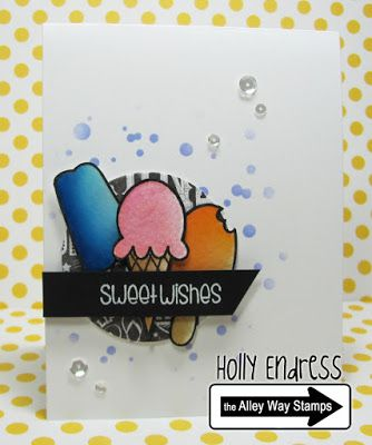 Hollybeary Creations  II The Alley Way Stamps, TAWS, cards, clear stamps. Slurp, Brain Freeze