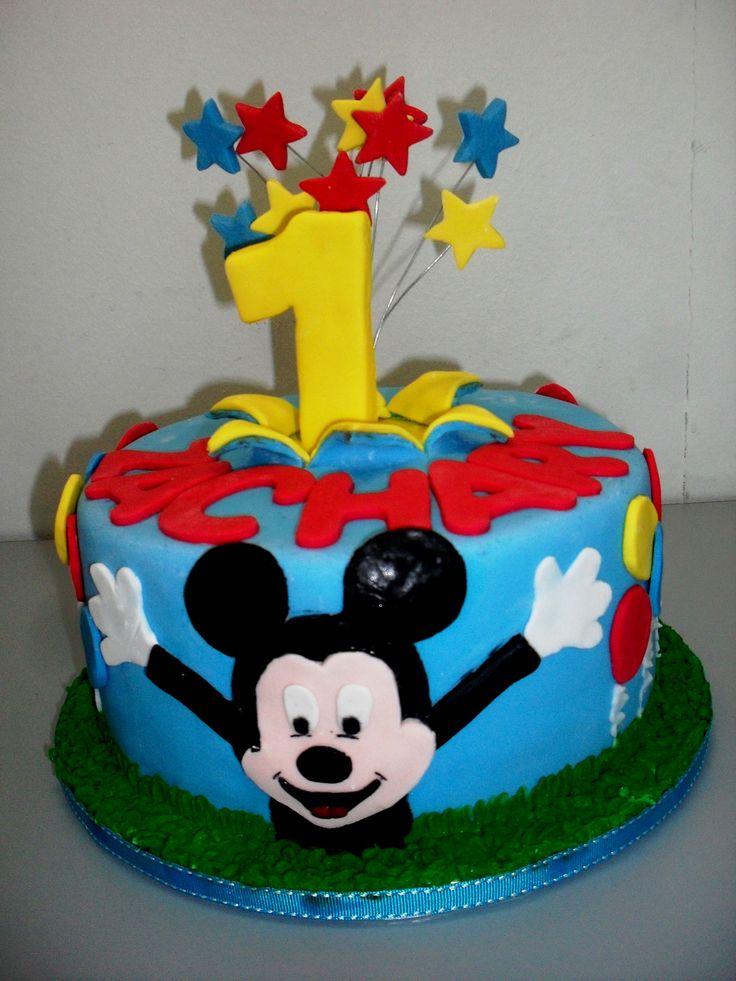Mickey Mouse Birthday Cake