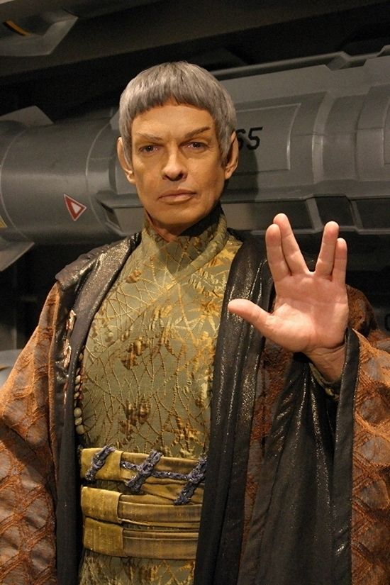 Ambassador Soval (Star Trek: Enterprise), played by Gary Graham~I remember him, I liked his character.