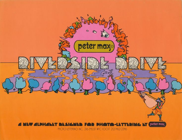 PETER MAX FONT Tenth Letter of the Alphabet: Alphabets: Riverside Drive