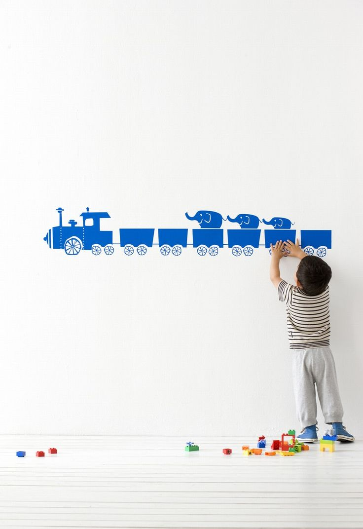 ferm LIVING KIDS - WallStickers - 2049-08 Tiny Train blue