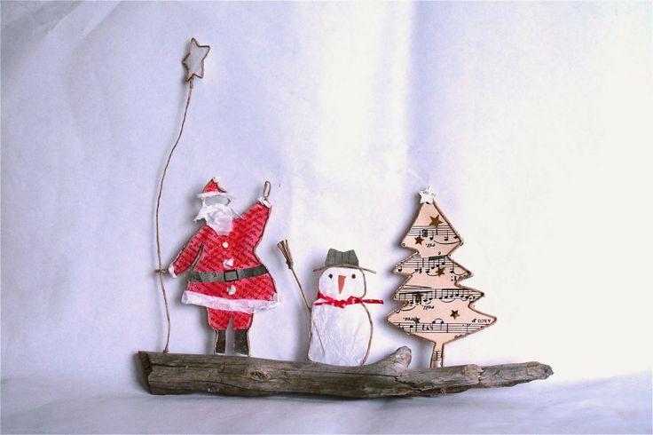 Père-Noël bonhomme et sapin