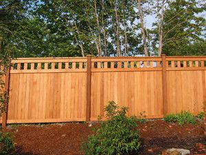 Privacy Fence With Vertical Spindles