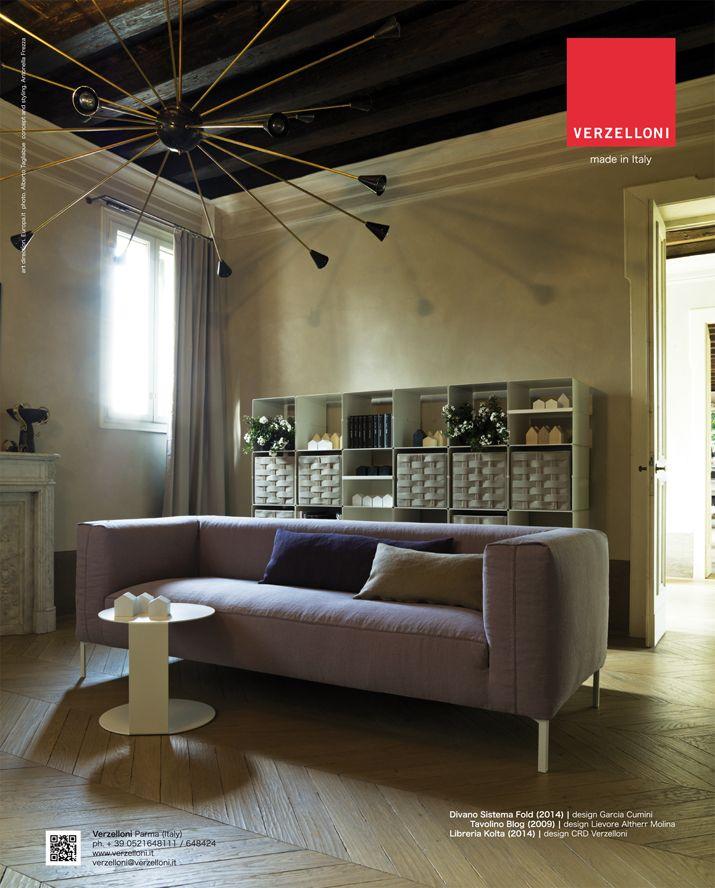 Fold. Verzelloni on Elle Decor Italia, Ideal Heim, Marie Claire Maison, Ville e Giardini.