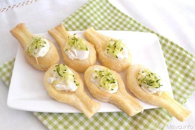 » Cucchiaini di pasta sfoglia Ricette di Misya - Ricetta Cucchiaini di pasta sfoglia di Misya