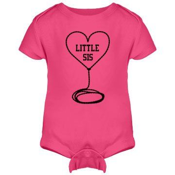 Little Sis onesie   Adorable pink onesie with Lil Sis logo