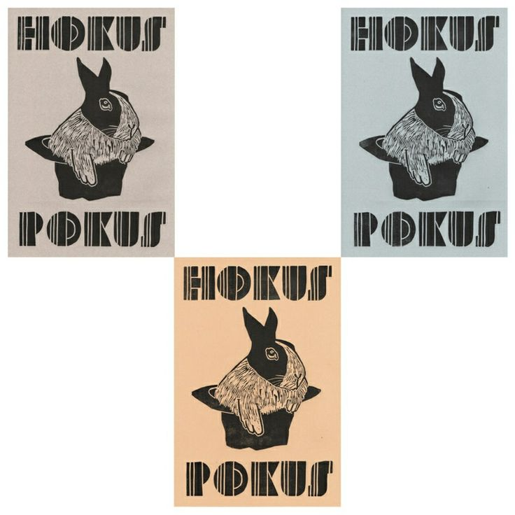 Hokus pokus. Linoprints by www.monikapetersen.com