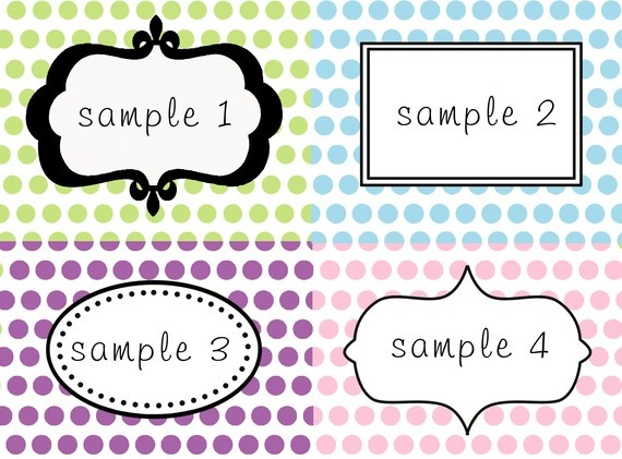 Table Labels Template Oyle Kalakaari Co