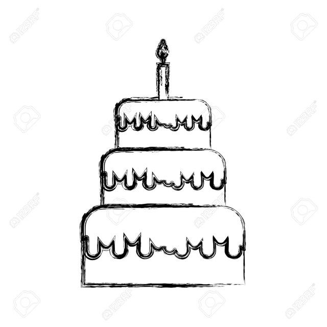 Astounding 20 Pretty Image Of How To Draw A Birthday Cake With Images Funny Birthday Cards Online Alyptdamsfinfo