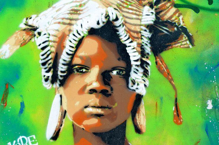 https://flic.kr/p/yk2dWi | Mural in Barcelona, Black woman's Face | Mural in Barcelona, Black woman's Face