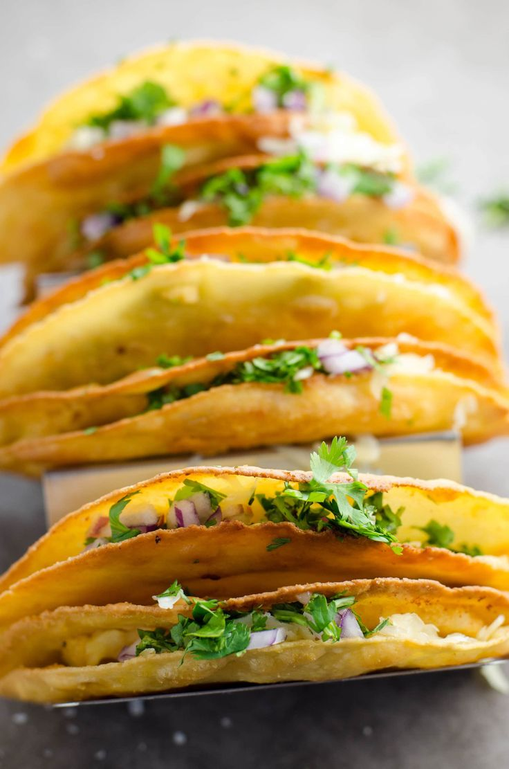 These flavorful crispy potato tacos (tacos de papa) are crunchy on the outside and creamy on the inside. They're vegetarian and easy to make at home.