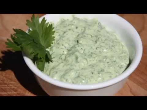 BEST DIP EVER!  Hubby insists I make this often!  You've got to try it! Cilantro Jalapeno Dip Recipe