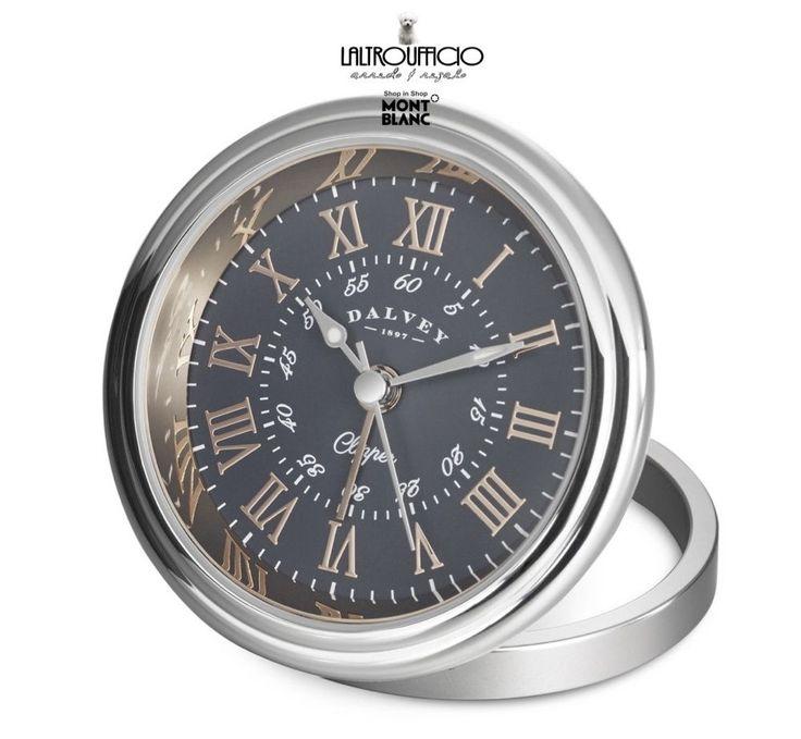 OROLOGIO/SVEGLIA 3276 DALVEY   CLIPPER CLOCK  CASSA IN ACCIAIO 60MM sc10%