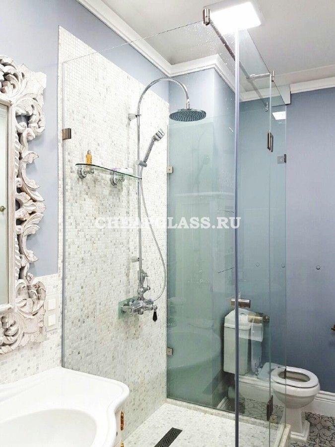 Душевые ограждения из закаленного стекла. Bathroom design. Shower glass.