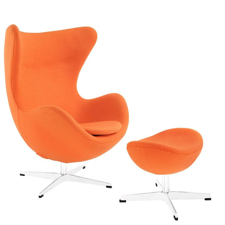 Glove Wool Lounge Chair and Ottoman Set EEI-1258