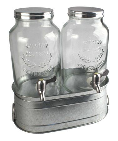Look what I found on #zulily! Masonware Farmhouse Beverage Dispenser Set #zulilyfinds