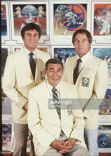 The Monday Night Football crew - Don Meredith, Howard Cosell, Frank Gifford