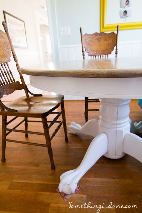 Another Refinished Table (This one's a Pedestal)