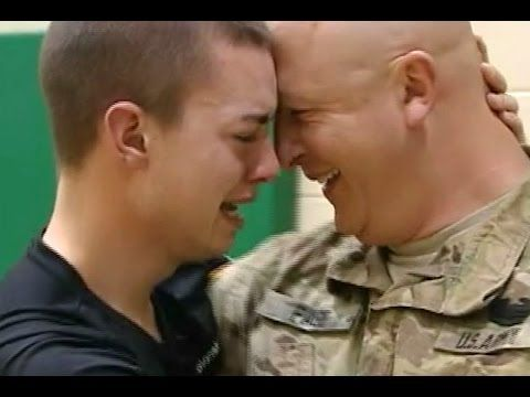 Soldiers Surprise Homecoming Compilation 2014 [NEW HD] - YouTube