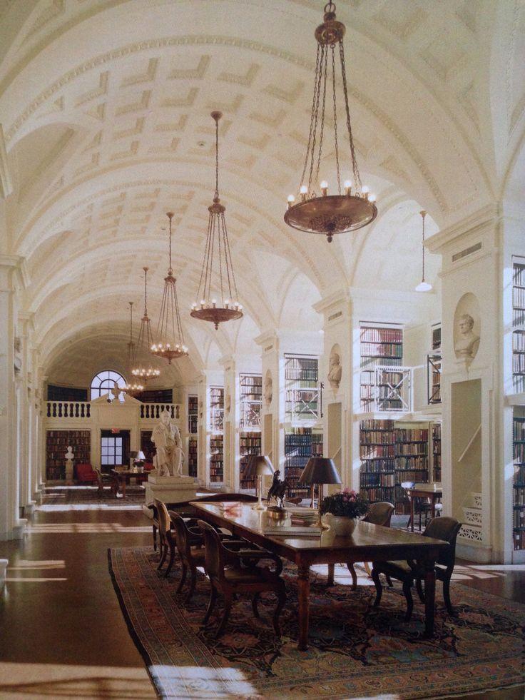 rickinmar   5 th floor reading room Boston Athenaeum   interior  furnitures  decor