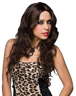 Deluxe Jennifer Brown Wig | Cheap Brown & Brunette Wigs Halloween Costume for Hats, Wigs & Masks