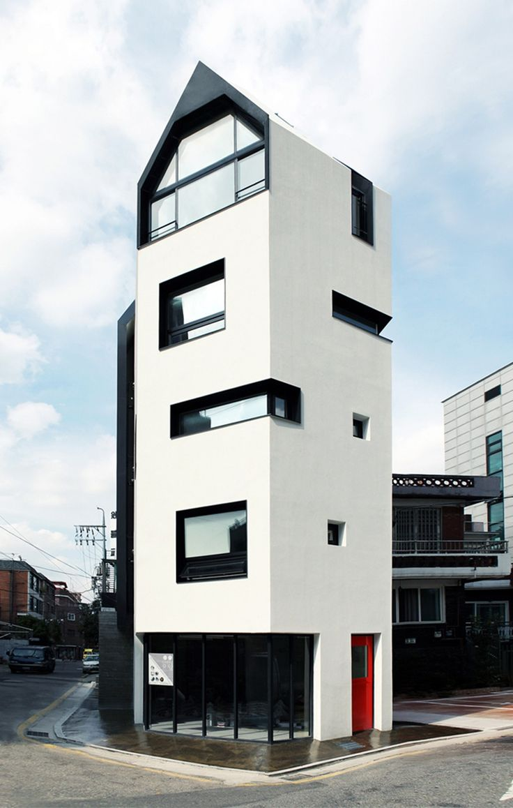 Modern Brownstone: White House By Design Band YOAP / Bangbae Dong,  Seocho Gu, Seoul, South Korea