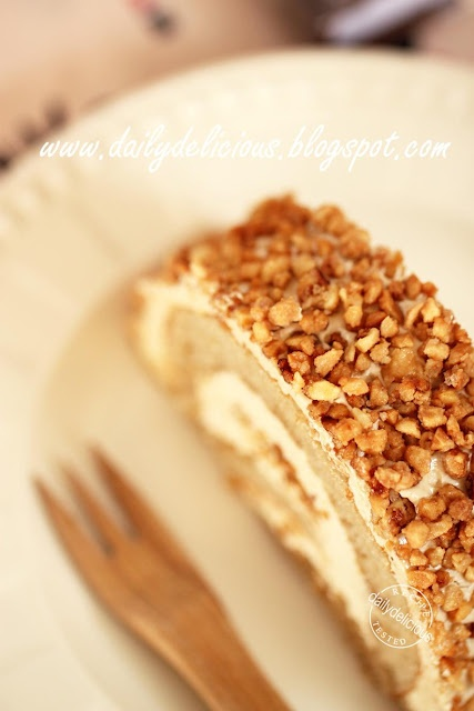 Almond Coffee Roll Cake: Nutty sweet roll cake at dailydelicious