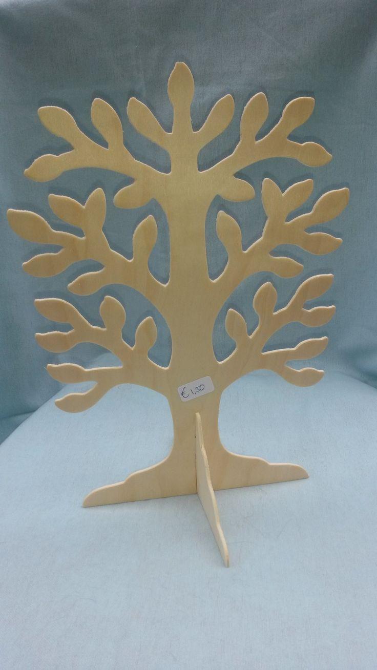 Houten boom om zelf te versieren 1 50 waldorf hand made for Houten decoratie boom