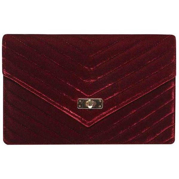 Dorothy Perkins Burgundy Twist Lock Clutch Bag ($29) ❤ liked on Polyvore featuring bags, handbags, clutches, red, pu handbags, burgundy handbags, turn lock purse, red clutches and dorothy perkins